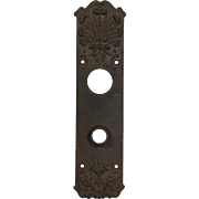 Neoclassical Cast Iron Entry Backplates, Antique Hardware