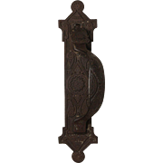 Antique Thumb Latch Handle, Cast Iron