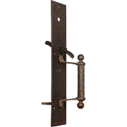 Antique Cast Iron Thumb Latch Handle By Sargent, c. 1880