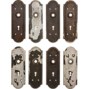 Salvaged Antique Arched Doorplates