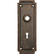 Reclaimed Antique Arts & Crafts Doorplates