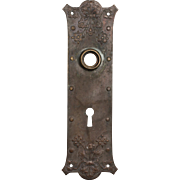 Salvaged Antique Bronze Doorplates, Faux Rivets