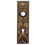Antique Eastlake Doorplates in Cast Brass, Late 19th Century