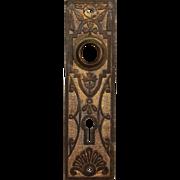 Antique Eastlake Doorplates in Cast Brass, Late 19th Century