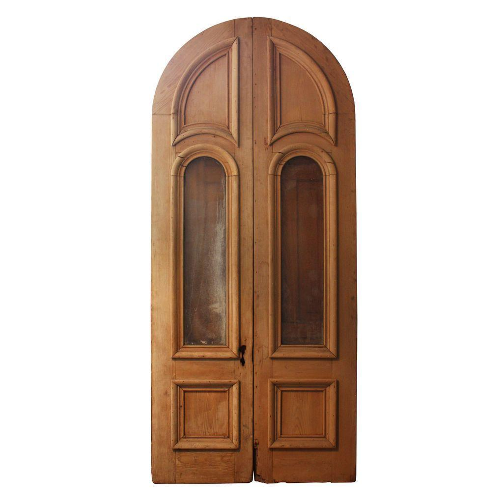 Impressive Pair of Antique Double Doors with Glass, c. 1880's