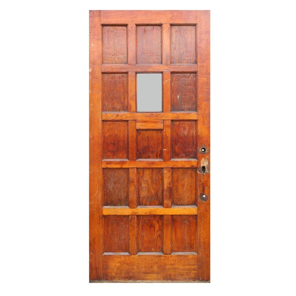 "Salvaged 36"" Entry Door with Window"