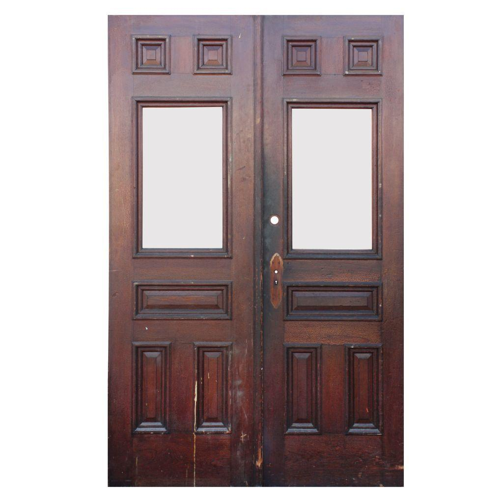 Salvaged Pair of Antique Heart of Pine Double Doors