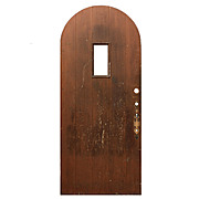 "Reclaimed 36"" Arched Plank Door"