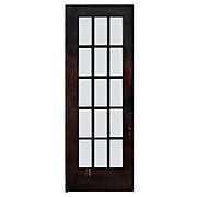 "Reclaimed 31"" Divided Light French Door, Beveled Glass"
