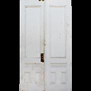 """Reclaimed Pair of Antique 46"""" Double Doors"""