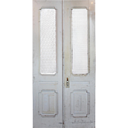 """Salvaged Pair of 44"""" Antique Double Doors, Early 1900s"""