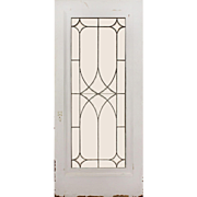 """Dazzling Antique 36"""" Salvaged Door, Leaded and Beveled Glass"""
