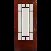 "Reclaimed 36"" Oak Prairie Style Door with Beveled Glass"