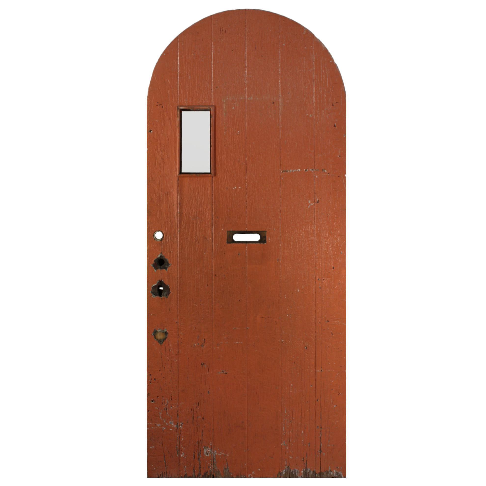 "Salvaged 36"" Arched Plank Door"