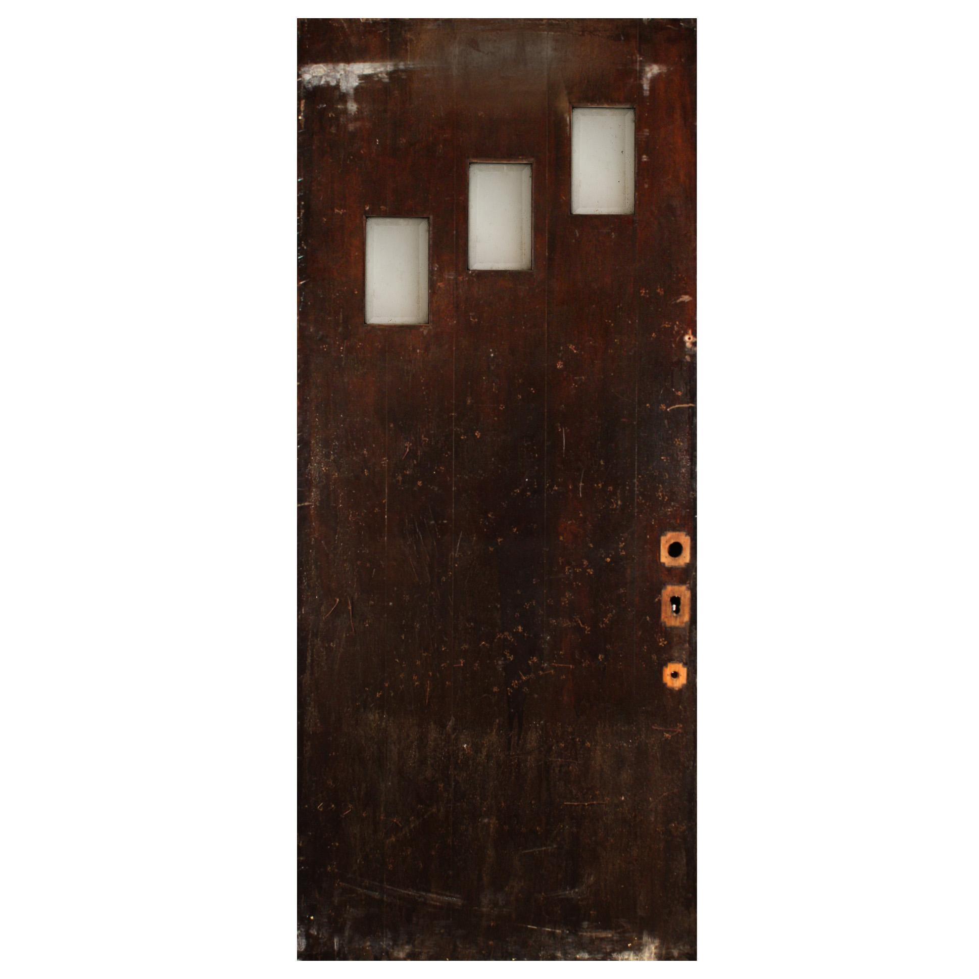 """Reclaimed Antique 36"""" Plank Door, c.1930"""