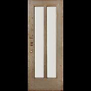 "Salvaged Antique 30"" Door with Beveled Glass"