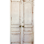 Salvaged Pair Antique Double Doors from French Hotel
