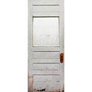 """Reclaimed 32"""" Door with Privacy Glass, Early 1900s"""