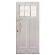 "Salvaged 36"" Antique Craftsman Door"