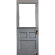 """Salvaged 32"""" Door with Carved Details, Early 1900s"""