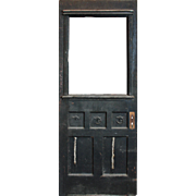 """Reclaimed 32"""" Door with Carved Details, Early 1900s"""