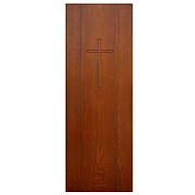 Salvaged Antique Quarter Sawn Oak Door with Cross