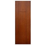 Salvaged Antique Quarter Sawn Oak Door with Cross
