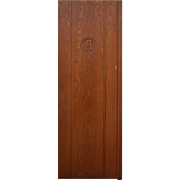 Reclaimed Antique Quarter Sawn Oak Door with Alpha Symbol