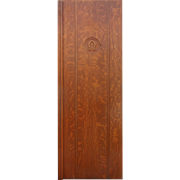 Salvaged Antique Quarter Sawn Oak Door with Omega Symbol