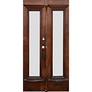 Salvaged Pair of Antique Doors with Egg-and-Dart Detail, Early 1900s
