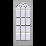 """Reclaimed 36"""" Divided Light Door, Beveled Glass"""