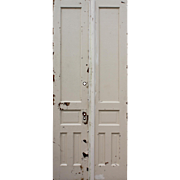 "Salvaged Pair of 40"" Antique Double Doors, Early 1900s"