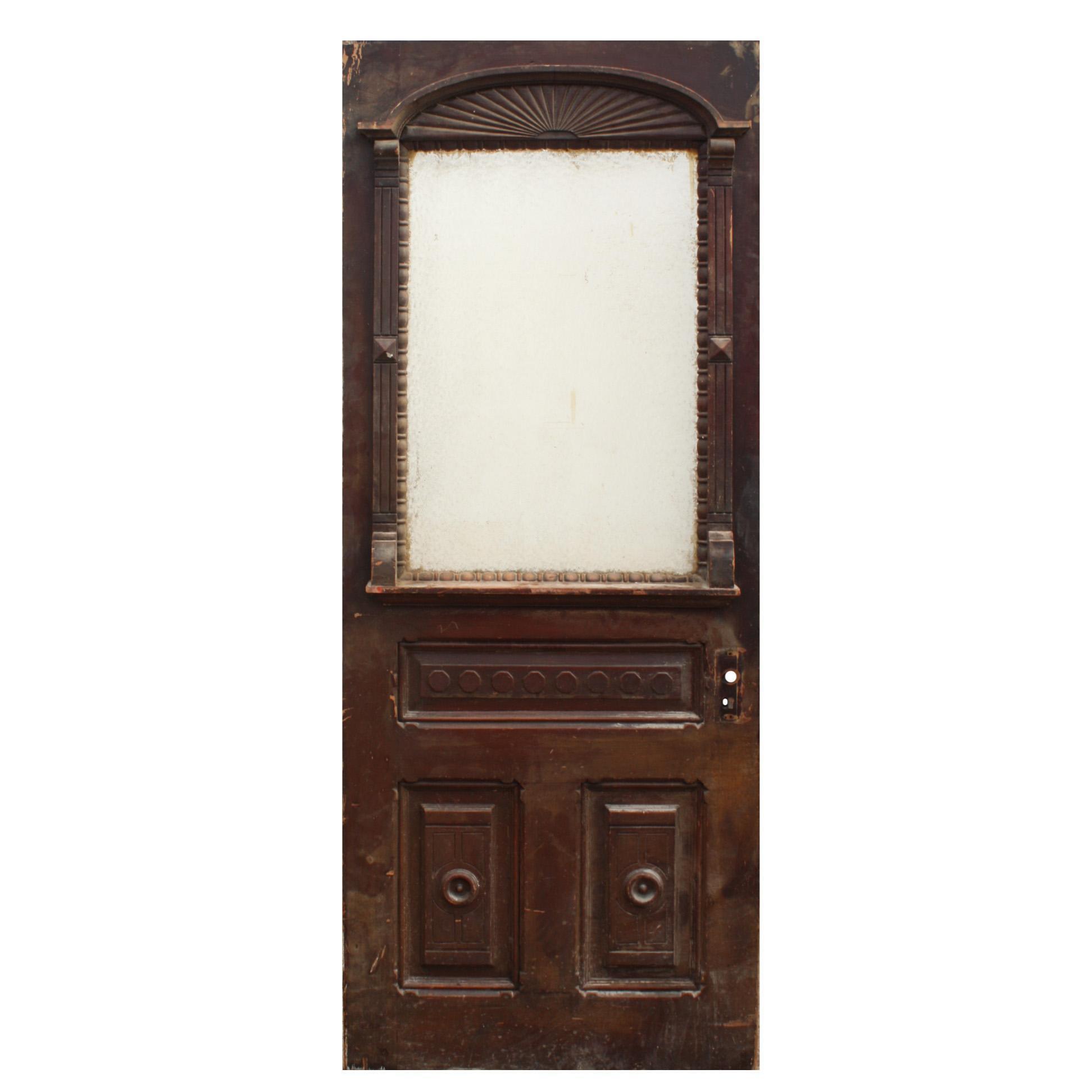 """Reclaimed Antique 32"""" Eastlake Door, c.1880s"""