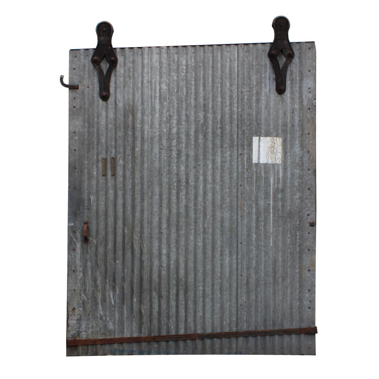 Reclaimed Antique 6'  Industrial Corrugated Fire Door