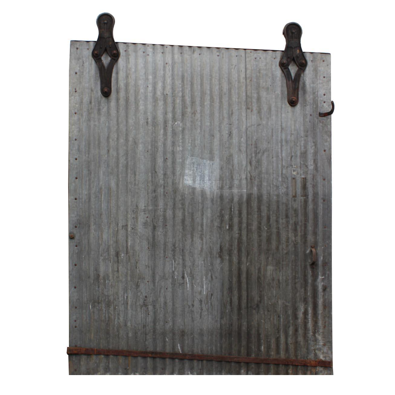 Salvaged Antique 6' Industrial Corrugated Fire Door