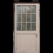 Salvaged Antique 4' Industrial Metal Door with Wire Glass