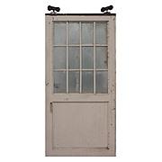 Reclaimed Antique 4' Industrial Metal Door with Wire Glass