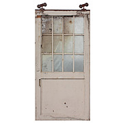 Reclaimed Antique 4' Industrial Metal Door with Wire Glass