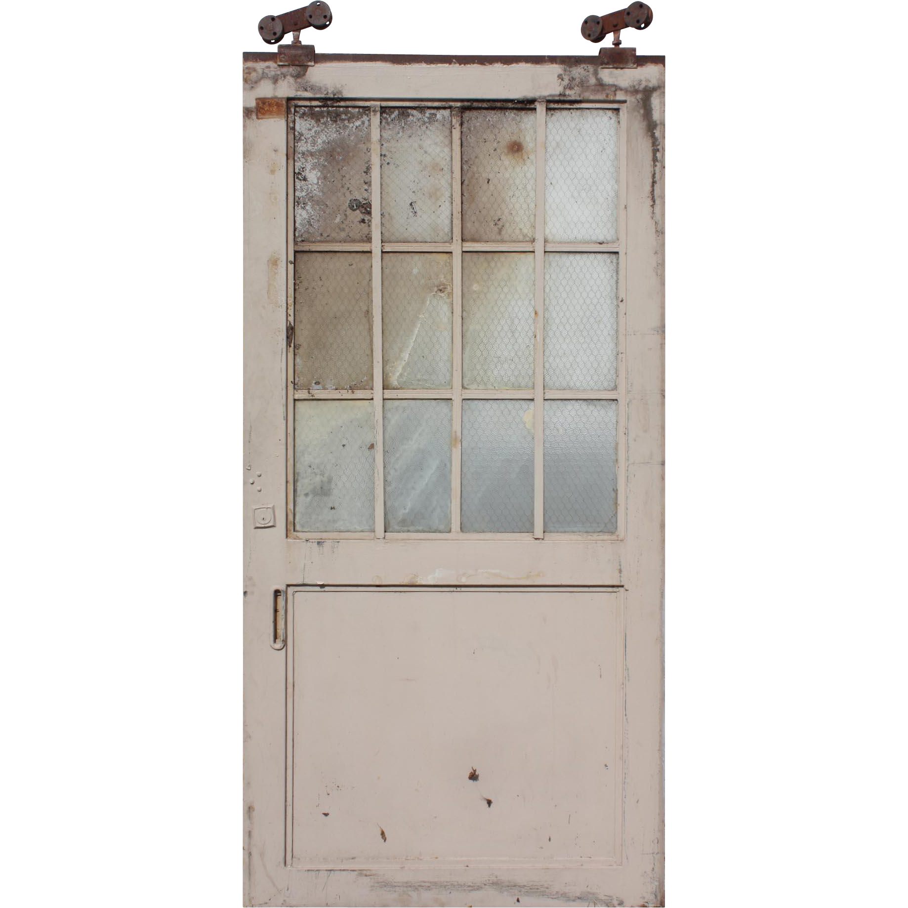 1838 #5F4A42 Reclaimed Antique 4' Industrial Metal Door With Wire Glass From  save image Commercial Doors Nashville 37671838