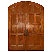 Salvaged Antique Arched 6' Door Pair, Vanderbilt University