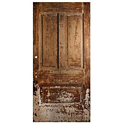 "Reclaimed Antique 40"" Three-Panel Door from Divine Lorraine Hotel"