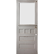 "Reclaimed 32"" Door with Dentil Molding, Early 1900s"