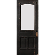 "Salvaged 32"" Eastlake Door with Arched Window, c.1880s"