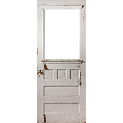 "Reclaimed 32"" Door with Chippy Finish, Early 1900s"