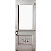 "Salvaged 32"" Neoclassical Door with Torch, Early 1900s"