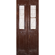 Pair of Antique French Colonial Doors, Early 1900s