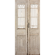 Salvaged Pair of Antique French Colonial Doors, Early 1900s