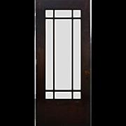 "Reclaimed 36"" Antique Craftsman Door with Beveled Glass"