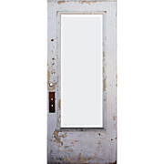 """Salvaged Antique 36"""" Door with Beveled Glass, Egg-and-Dart"""