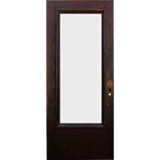 "Salvaged Antique 36"" Door with Beveled Glass, Egg-and-Dart"